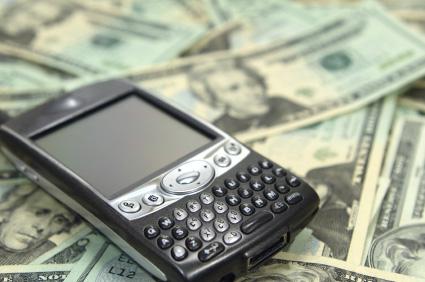 Smartphone av den typ som är populär i USA